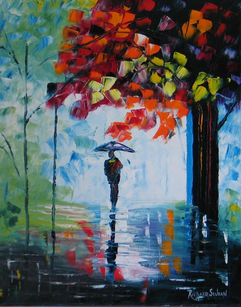 """Rainy Day"" original fine art by Richard St.Jean"