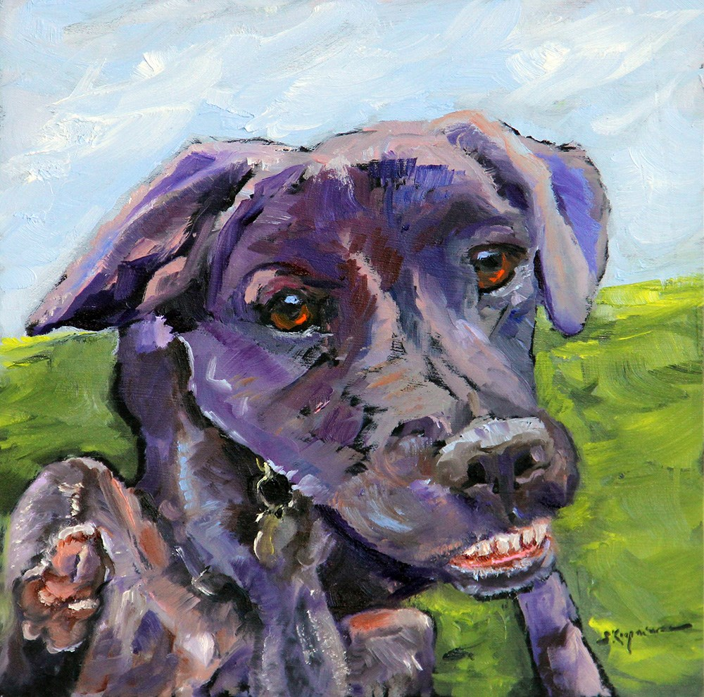 """Simon"" original fine art by Shelley Koopmann"