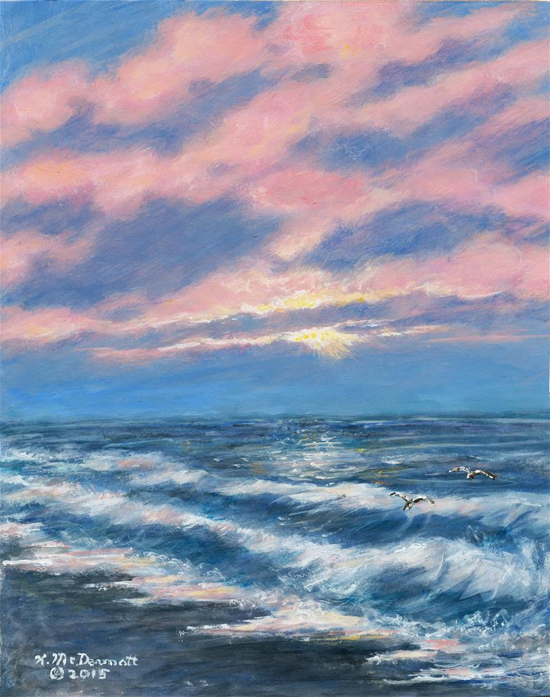 """Surf and Clouds"" original fine art by Kathleen McDermott"