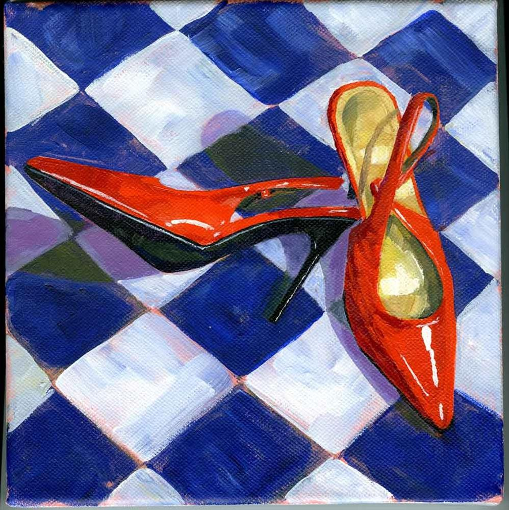 """Her Red Shoes"" original fine art by Eileen Hennemann"