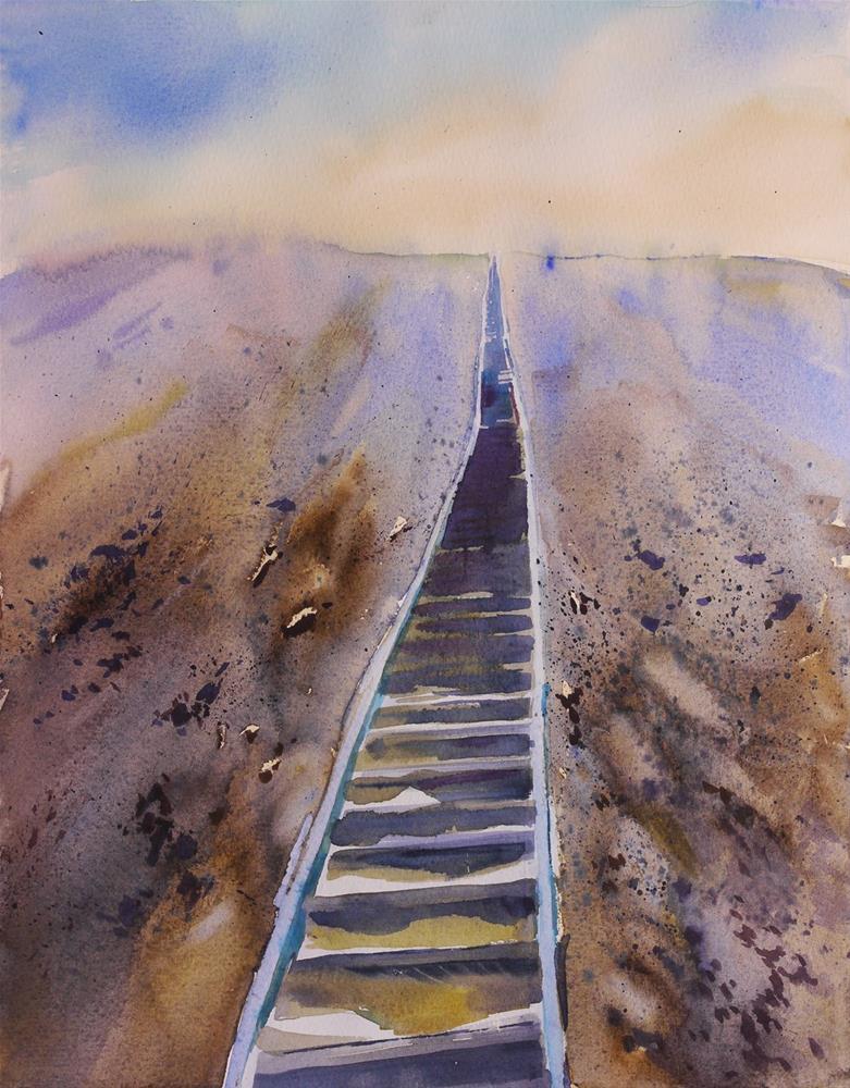 """stairway to Heaven"" original fine art by Beata Musial-Tomaszewska"