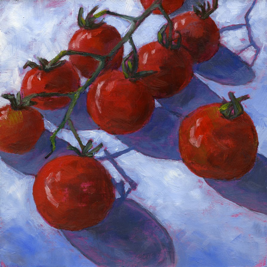"""Cherry Matoes"" original fine art by Eileen Hennemann"
