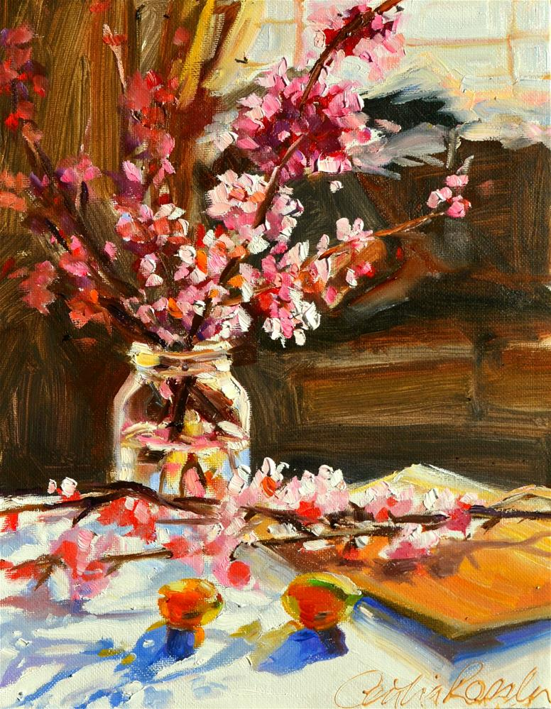 """CHERRY BLOSSOMS"" original fine art by Cecilia Rosslee"