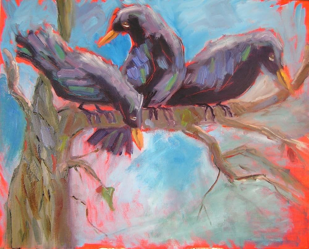 """Gossips"" original fine art by Carol Cochran"