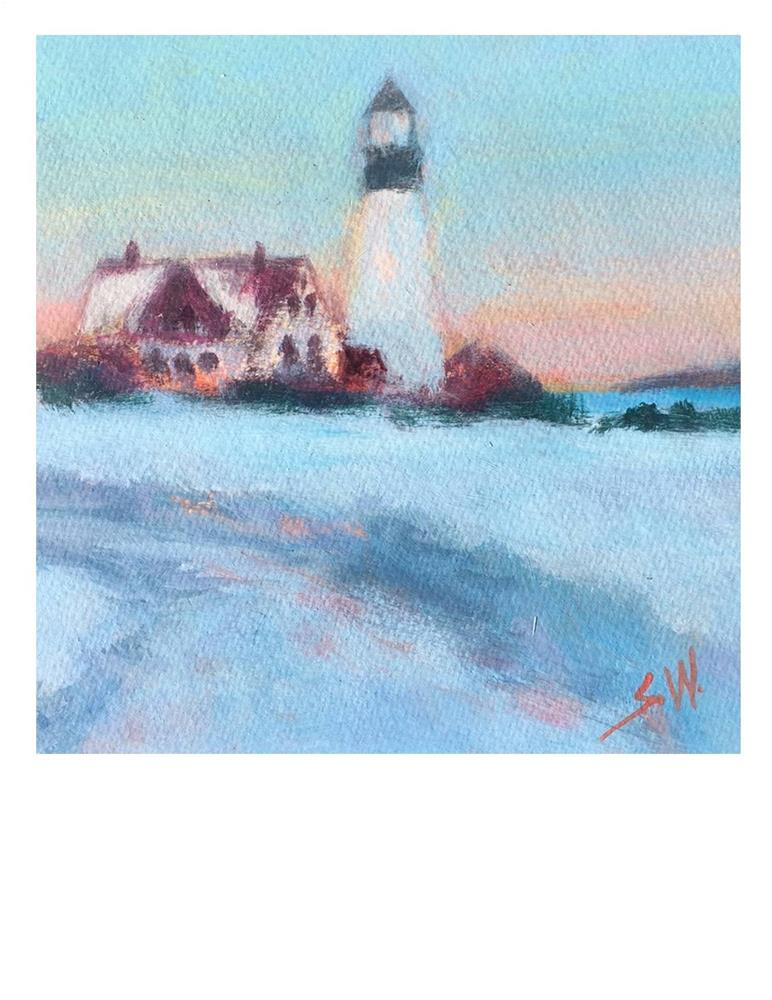 """Lighthouse"" original fine art by Suzanne Woodward"