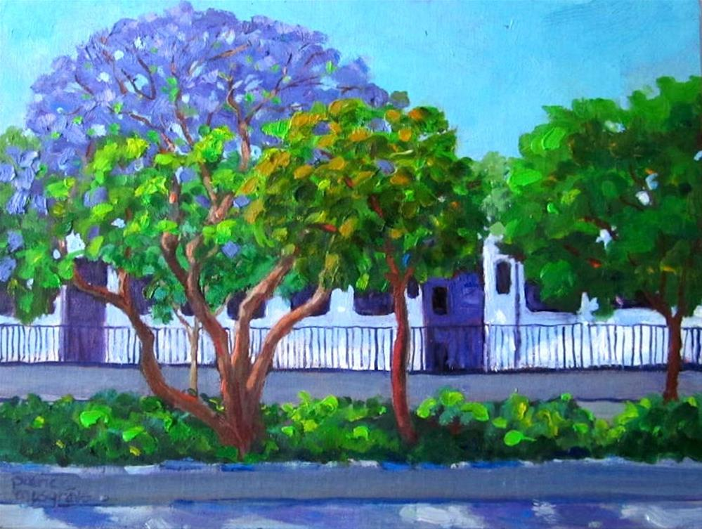 """Light Rail Train"" original fine art by Patricia Musgrave"