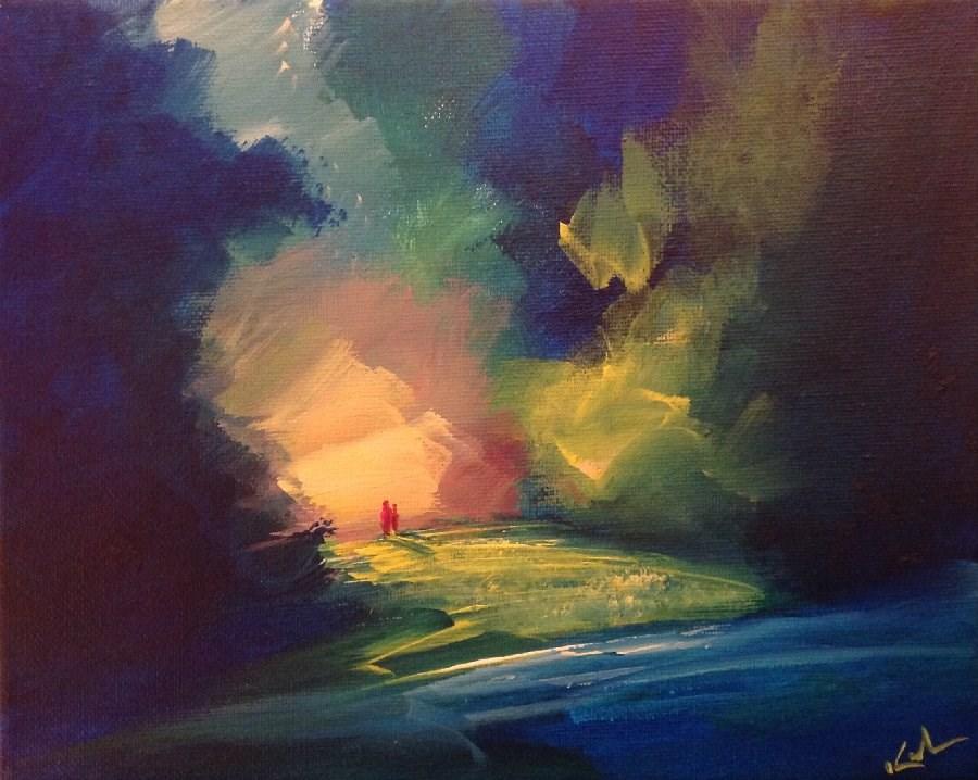 """""""Not an Hour Misspent"""" original fine art by David Kuhn"""