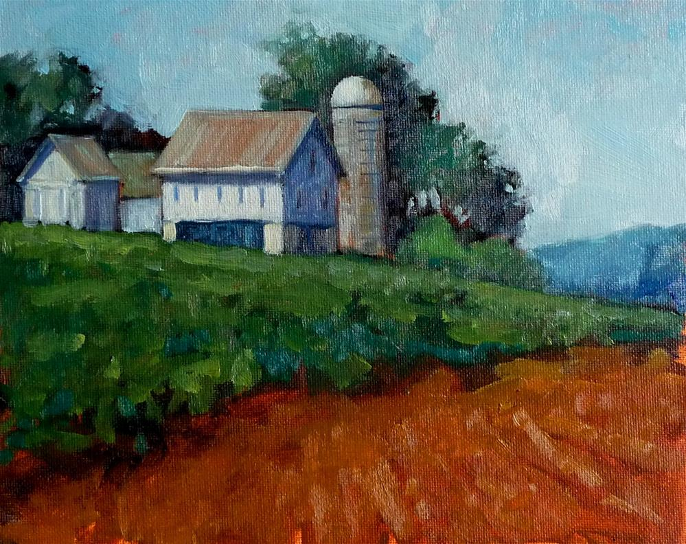 """Pennsylvania Farm"" original fine art by Lisa Kyle"