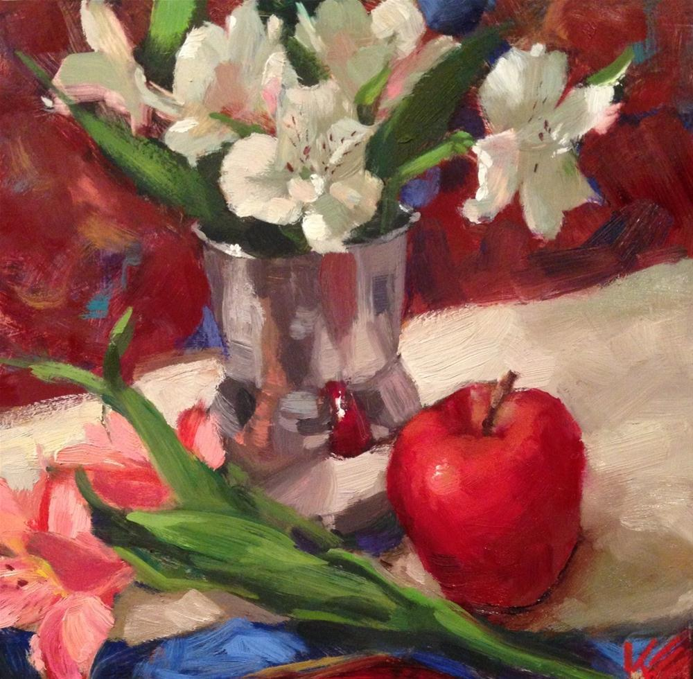 """Astros & Apple"" original fine art by Krista Eaton"