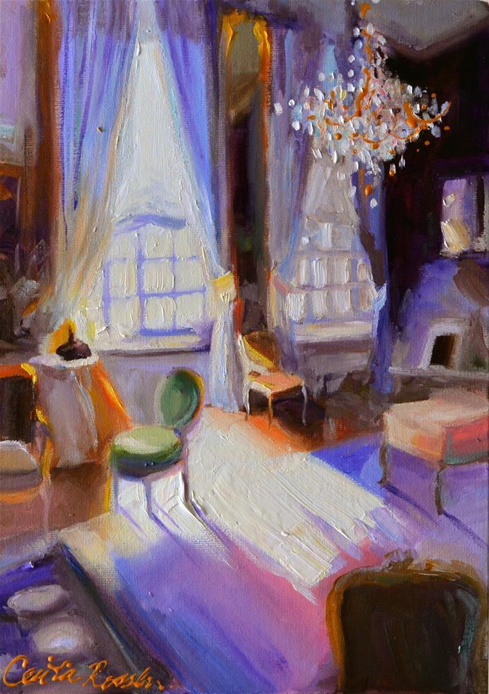 """CHAMBRES D'HOTE"" original fine art by Cecilia Rosslee"