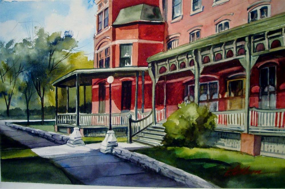 """Florence Hotel"" original fine art by Kathy Los-Rathburn"