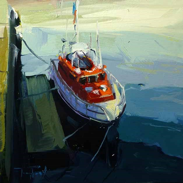 """Rettungsboot"" original fine art by Jurij Frey"