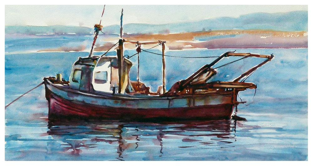 """Shrimp boat."" original fine art by Graham Berry"