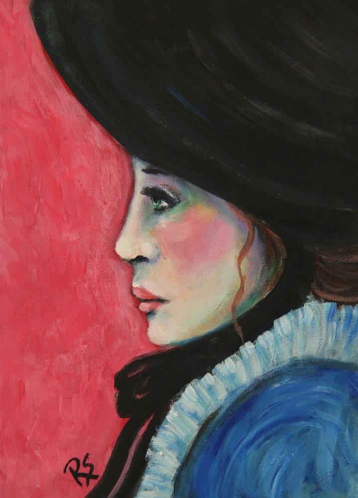 """Gwendolyn"" original fine art by Roberta Schmidt"