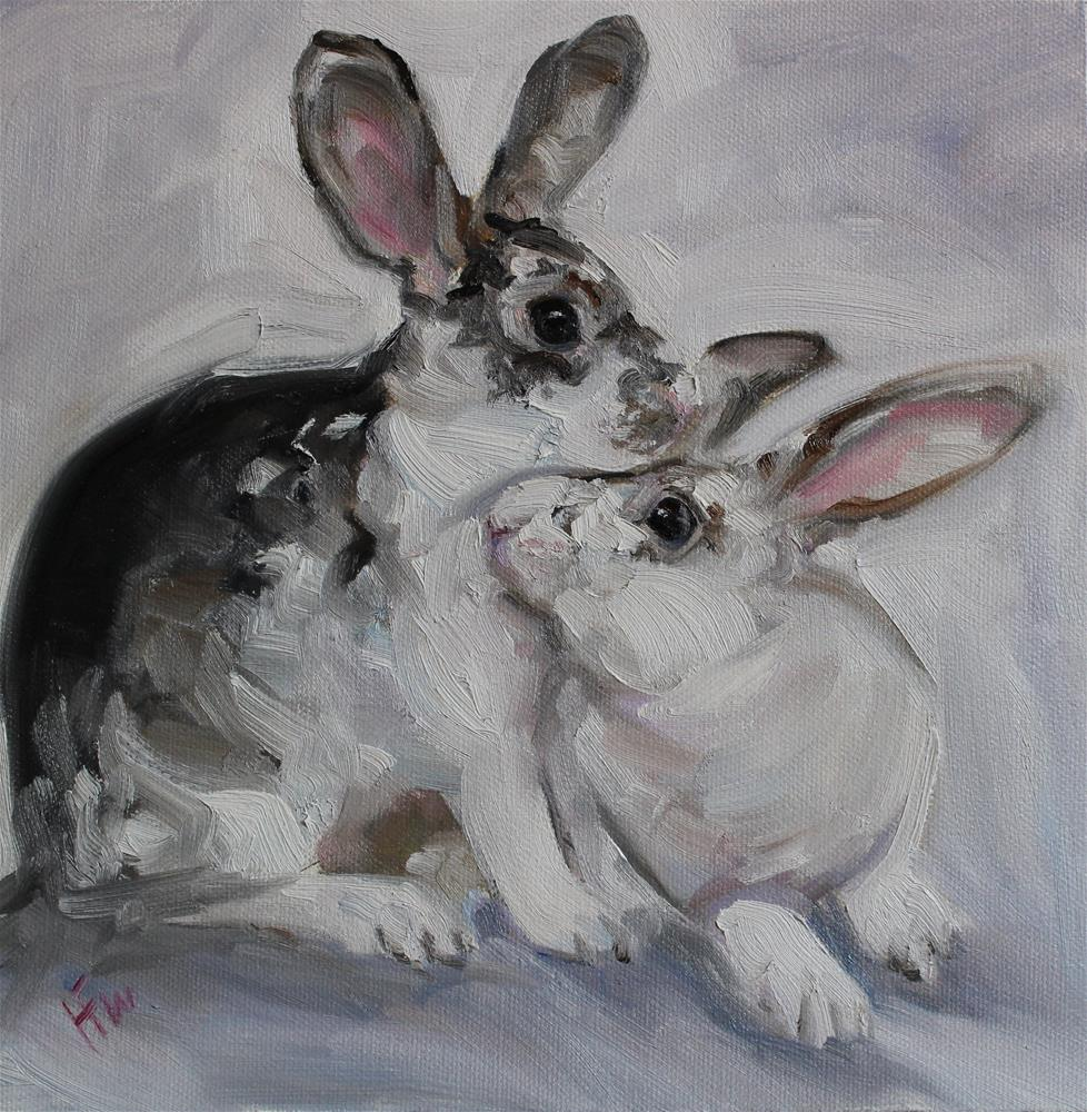 """Bunny Buddies"" original fine art by H.F. Wallen"