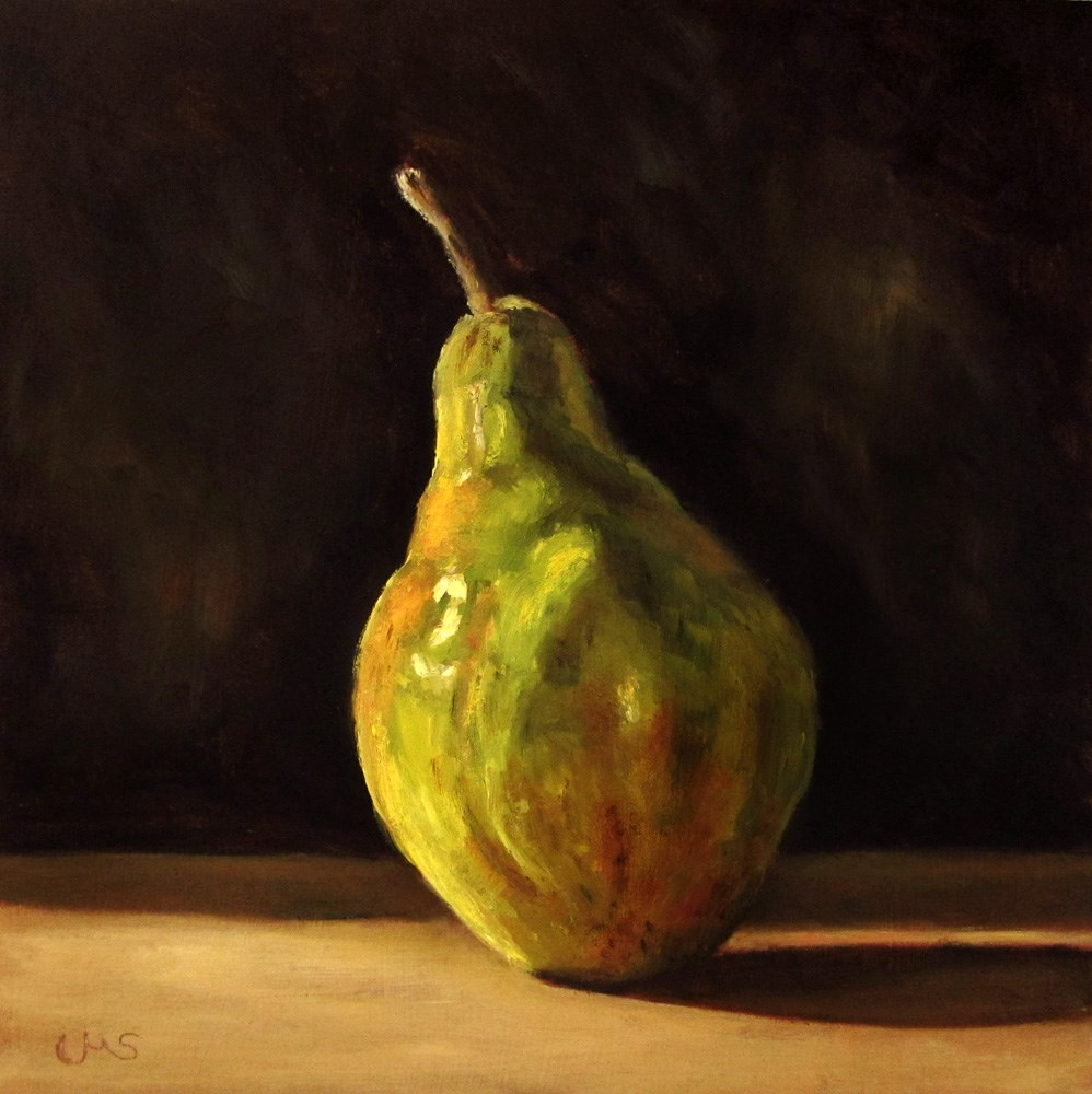 """William's Pear"" original fine art by Ulrike Miesen-Schuermann"