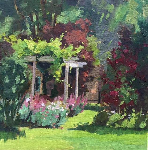 """Tammy's Paradise"" original fine art by Mary Jabens"
