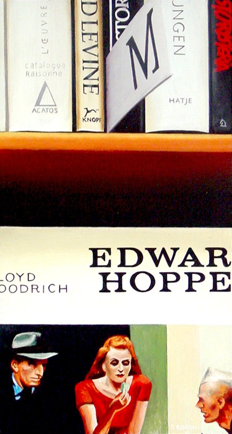 """Edward Hopper Books"" original fine art by Gerard Boersma"