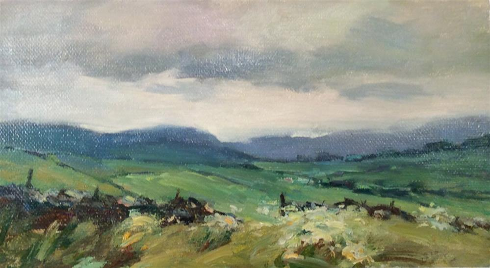 """Yorkshire Moors"" original fine art by John Shave"