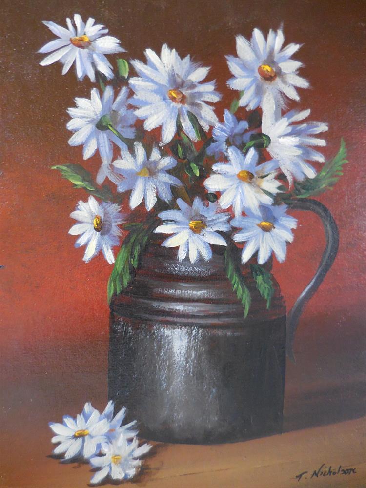 """""""Daisies"""" original fine art by Terri Nicholson"""