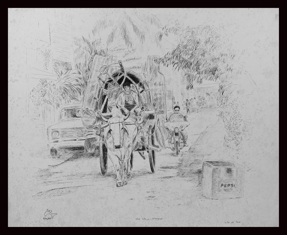 """Olongopo"" original fine art by Captain B Smith"