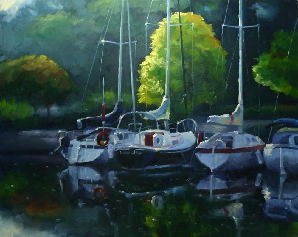 """Early Morning Light, Bronte Harbour"" original fine art by Catherine Jeffrey"