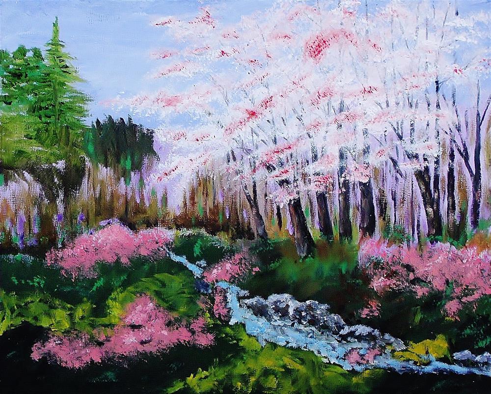 """Spring Bloom"" original fine art by Mike Caitham"