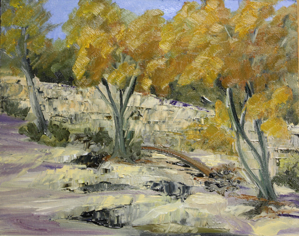 """""""Fall Colors from the Creek Bed."""" original fine art by Jane Frederick"""