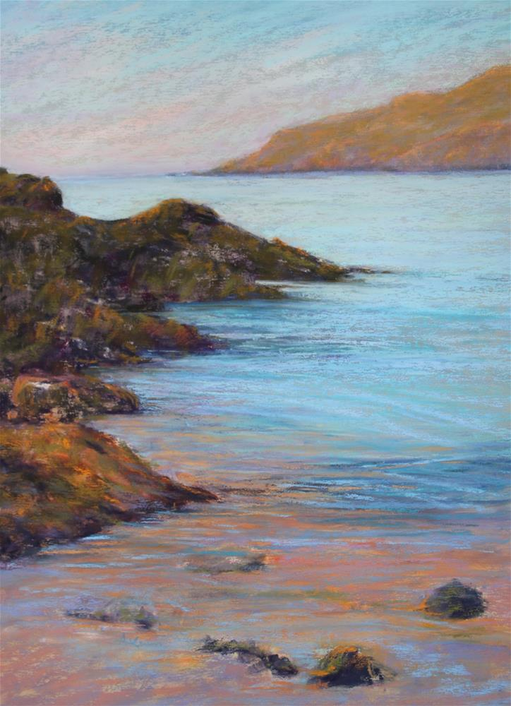 """Monhegan Beach"" original fine art by Sharon Lewis"