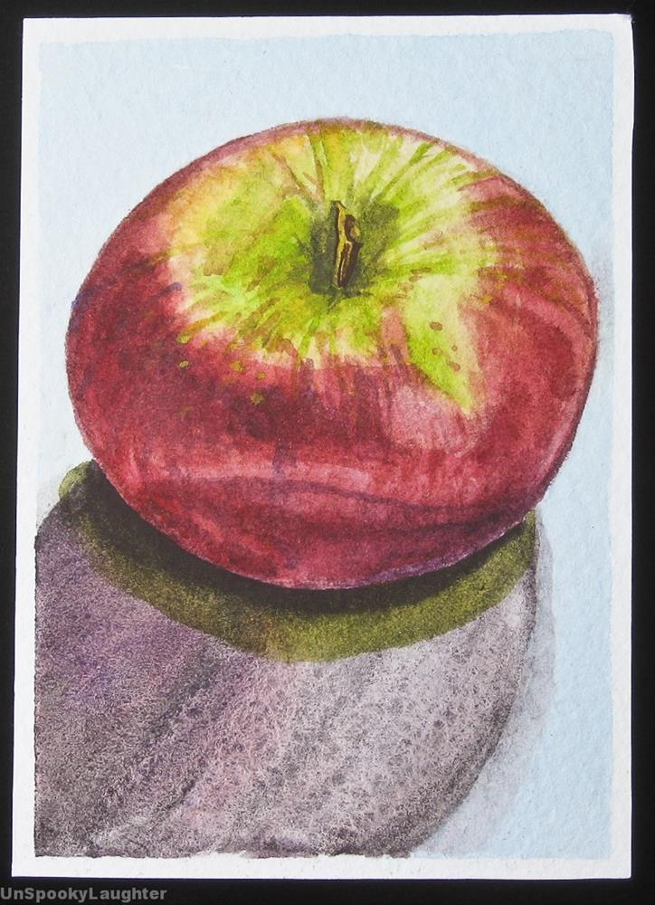 """Apple ACEO"" original fine art by A.E.E. Miller"