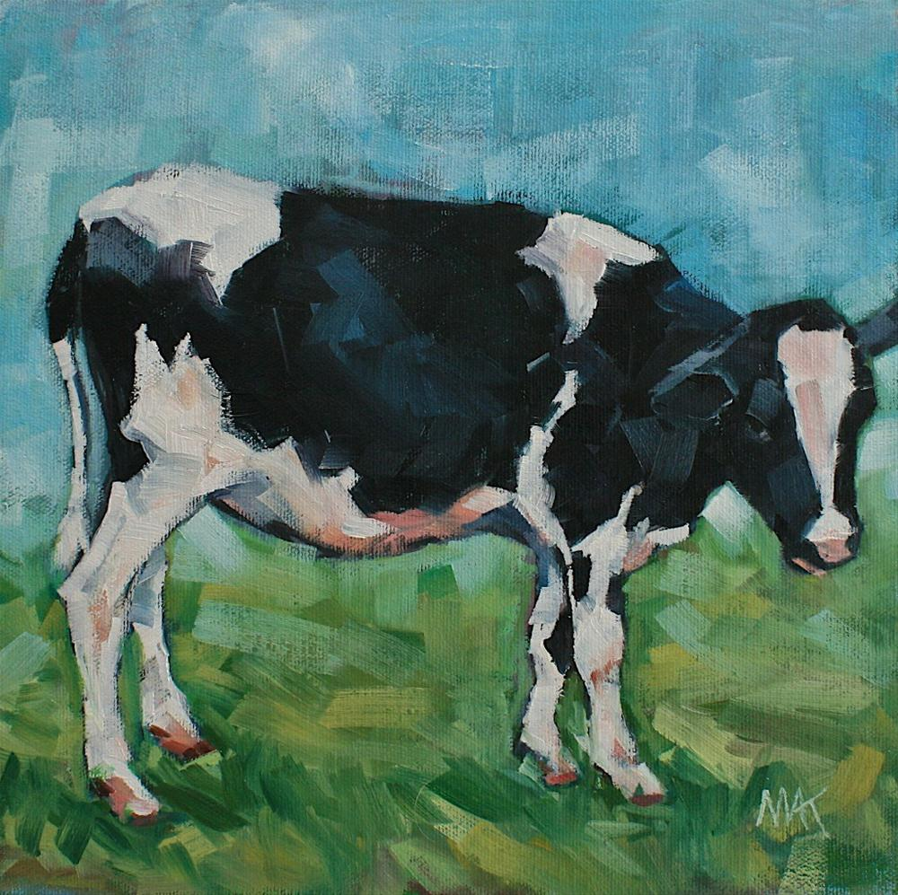 """Baby Cow"" original fine art by Mary Anne Cary"