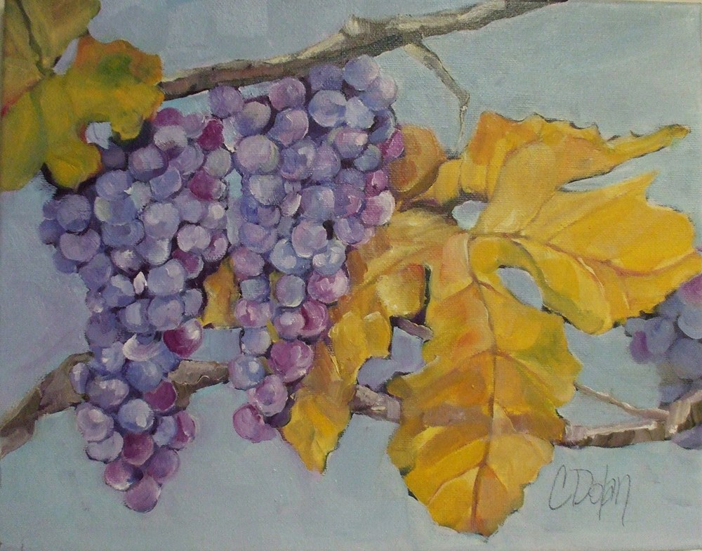"""Vineyard"" original fine art by Cheryl Williams Dolan"