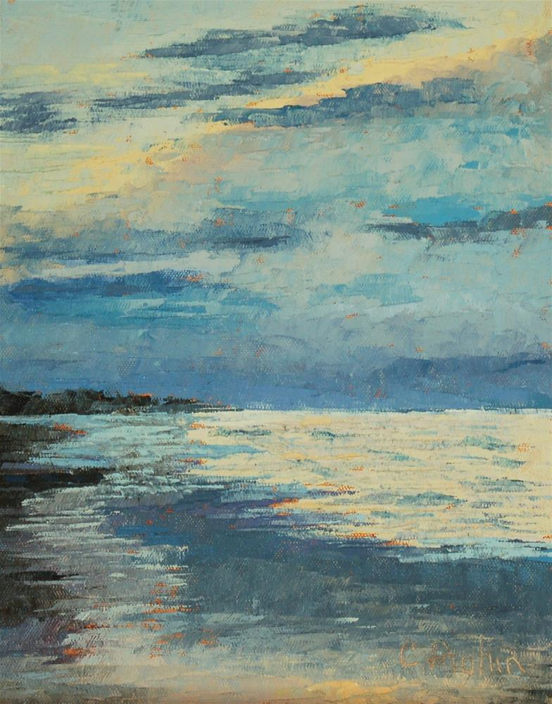 """Quiet Beach"" original fine art by Carol Pighin"