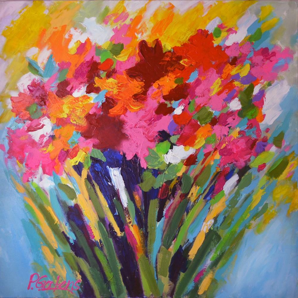 """Wildflower Bouquet Floral Abstract"" original fine art by Pamela Gatens"