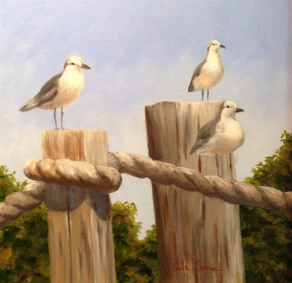"""""""Tide Watchers II"""" original fine art by Darla Brock"""