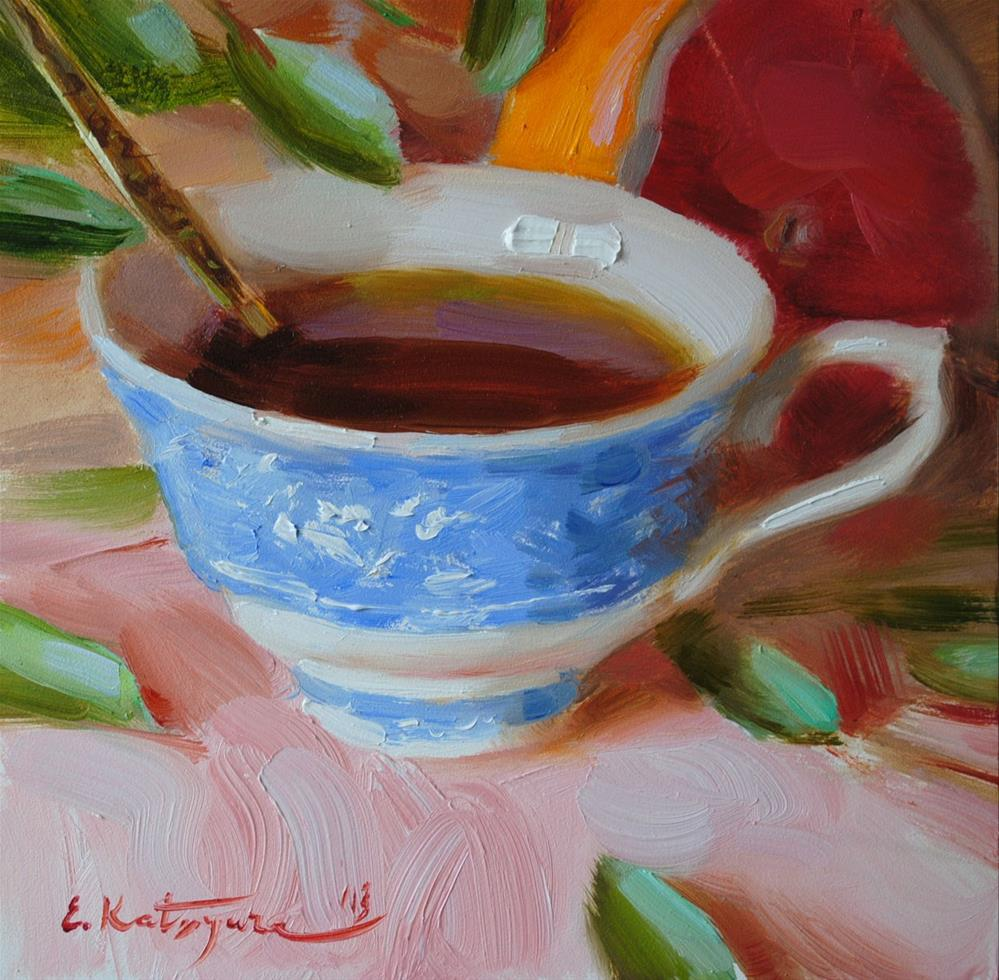 """Cup of Tea"" original fine art by Elena Katsyura"