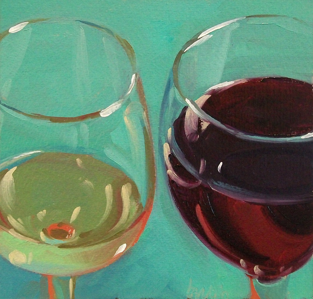 """cheers"" original fine art by Brandi Bowman"