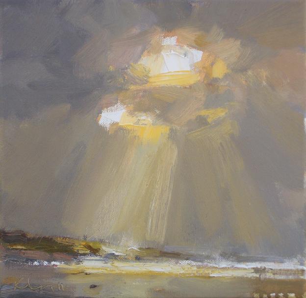 """""""Seascape autumn #13 Light"""" original fine art by Roos Schuring"""