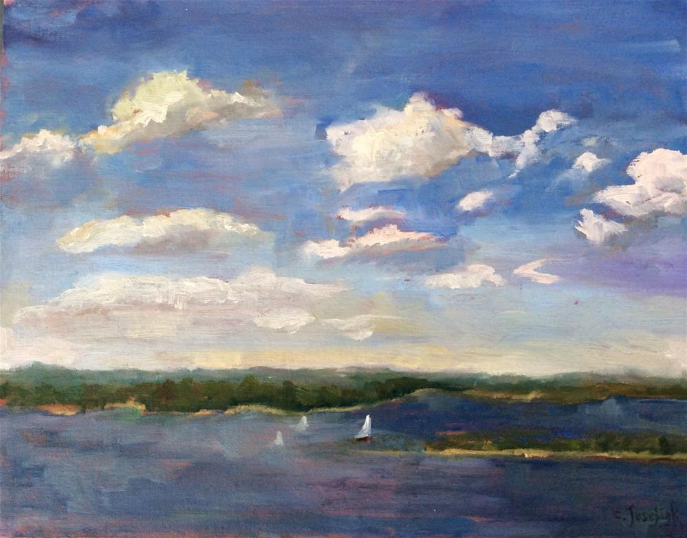 """Sail on the Potomac"" original fine art by Carol Josefiak"
