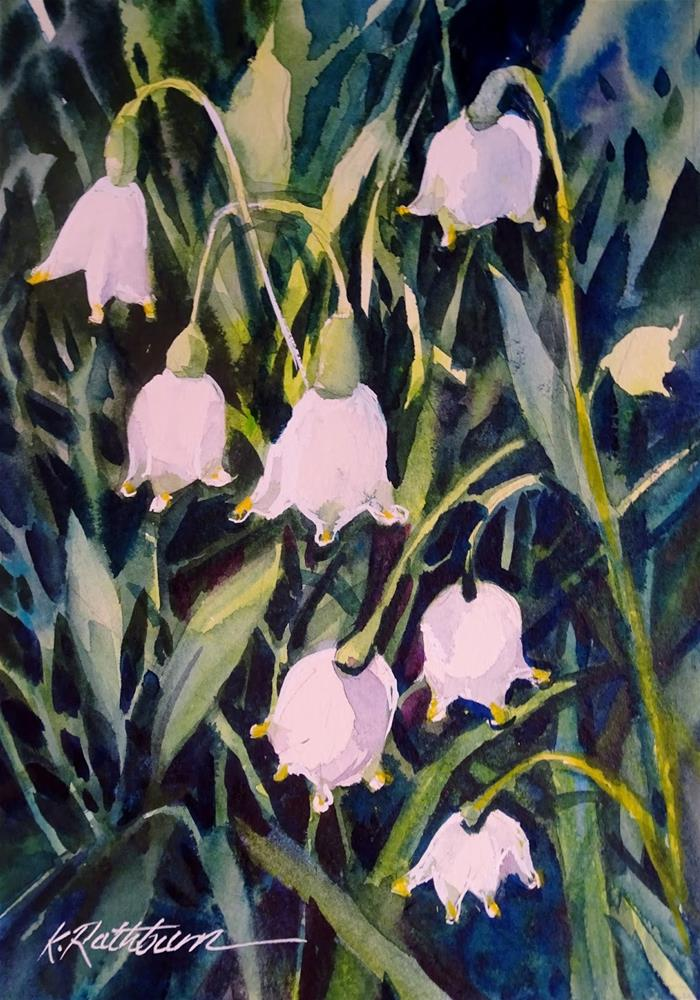 """Snow Drops"" original fine art by Kathy Los-Rathburn"