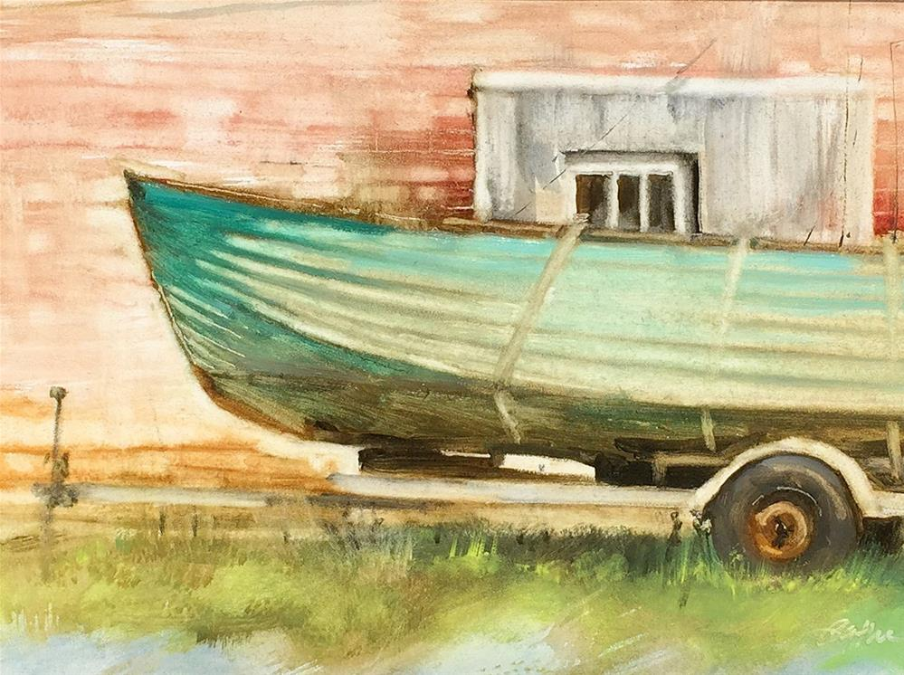 """Vintage Chris Craft"" original fine art by Beth Bathe"
