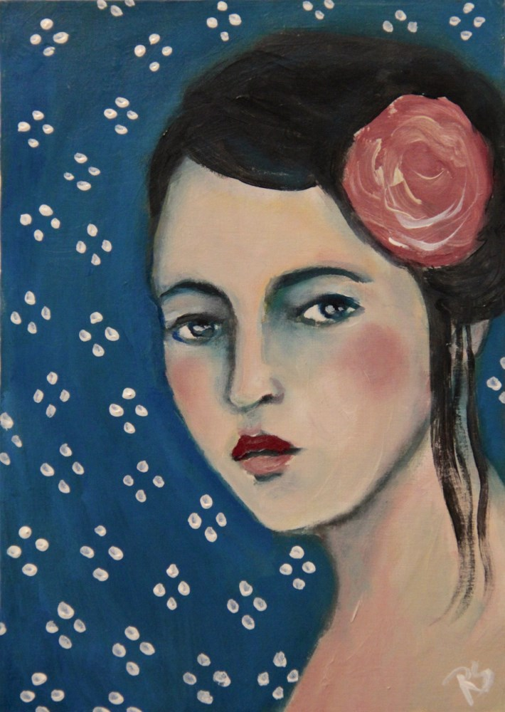 """Estella"" original fine art by Roberta Schmidt"