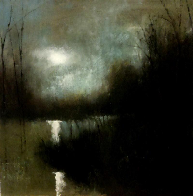"""Reflective Lake"" original fine art by Bob Kimball"