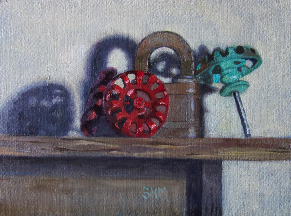 """""""Old faucets, old lock"""" original fine art by Sarah Meredith"""