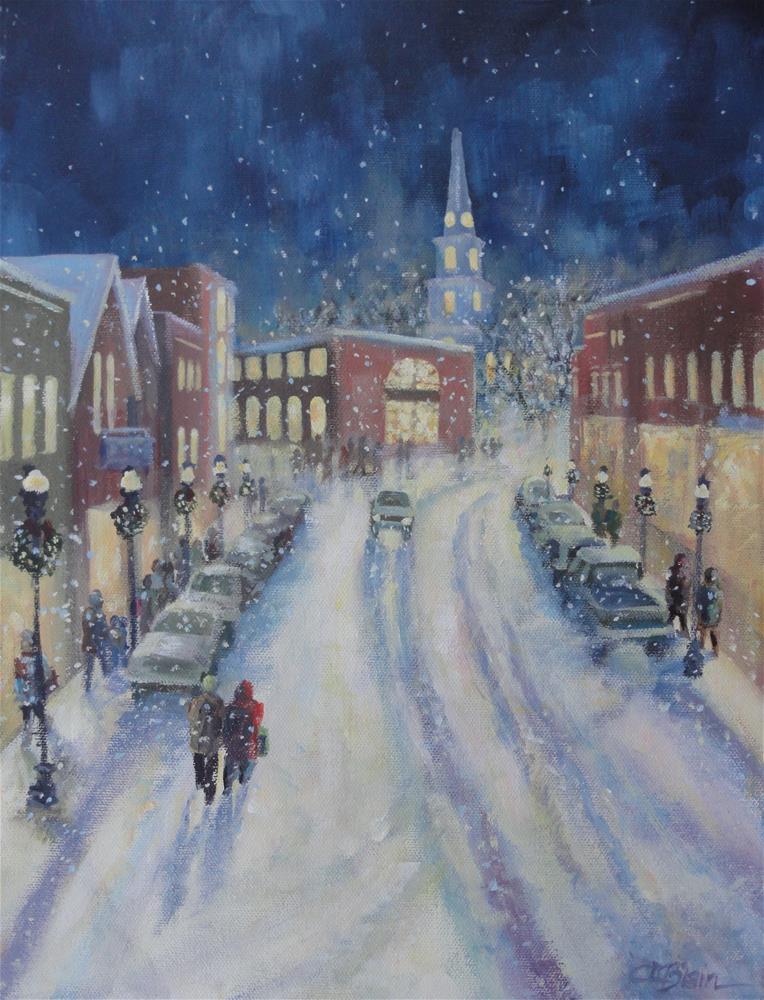 """Camden Christmas"" original fine art by Christine Blain"