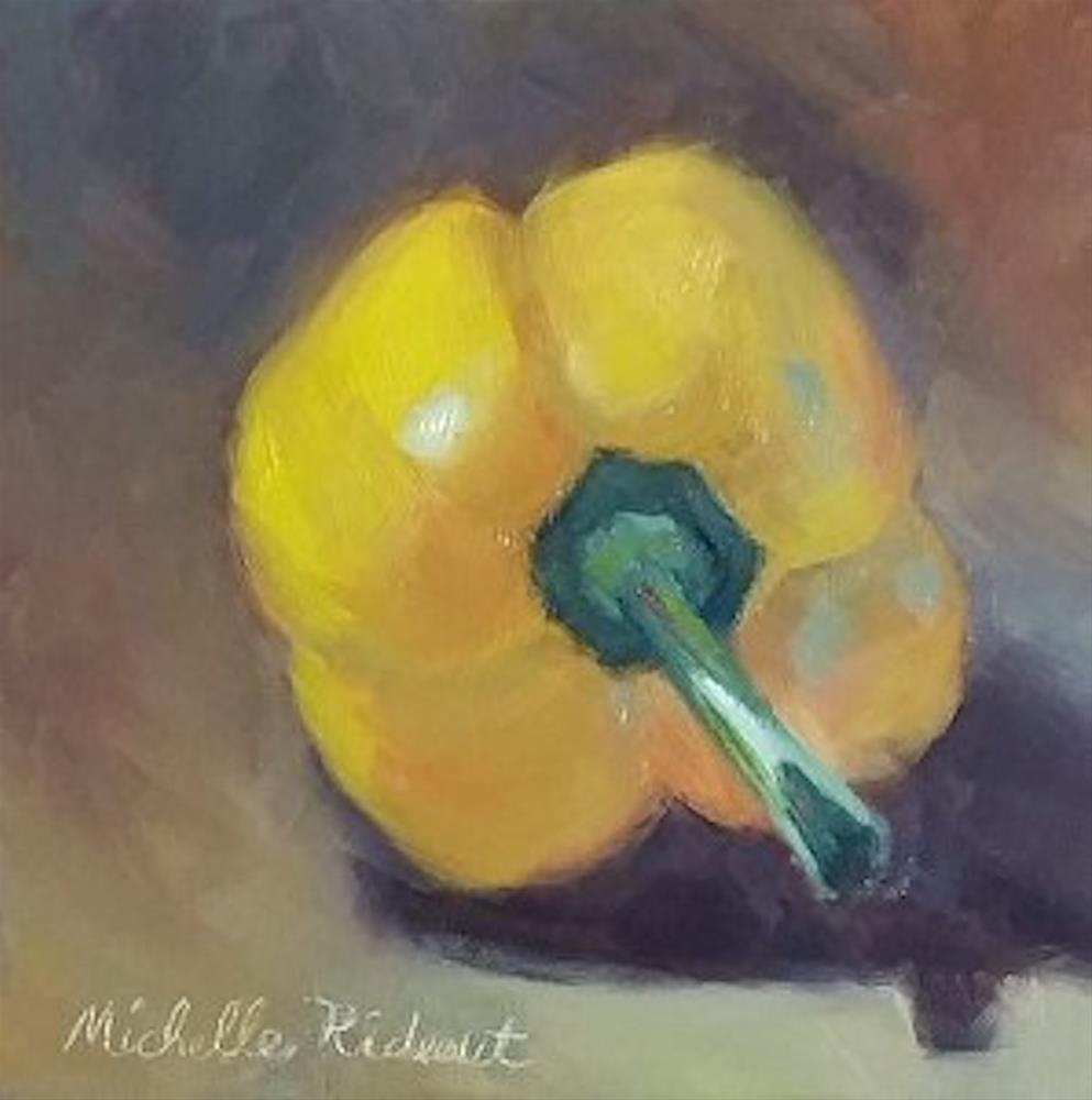 """""""Pimiento Amarillo"""" original fine art by Michelle Rideout"""