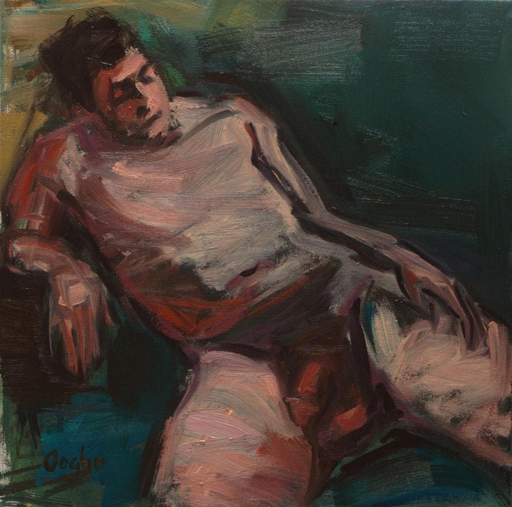 """Nude Reclining in a Shallow Pool"" original fine art by Angela Ooghe"
