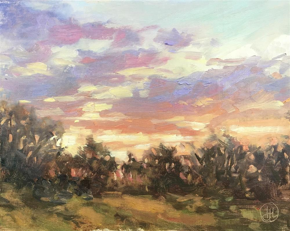 """waiting on sunset"" original fine art by Dottie  T  Leatherwood"