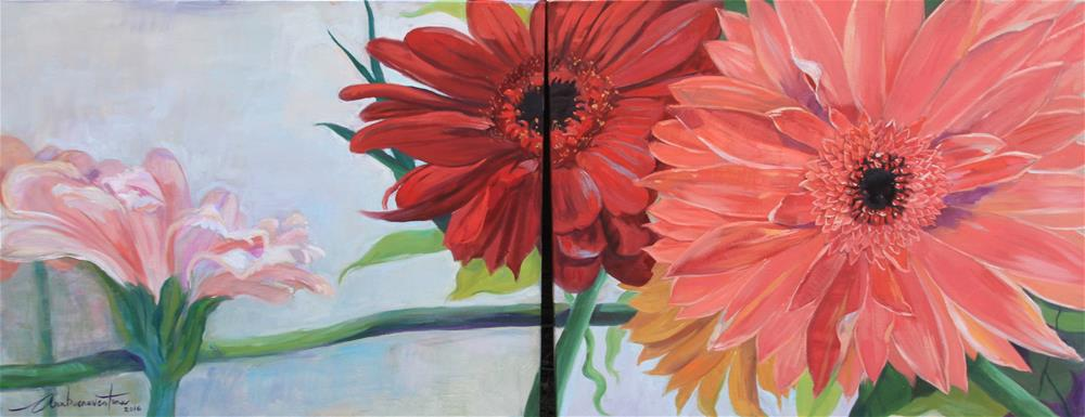 """Beautiful Gerbera Daisies"" original fine art by Ann Buenaventura"