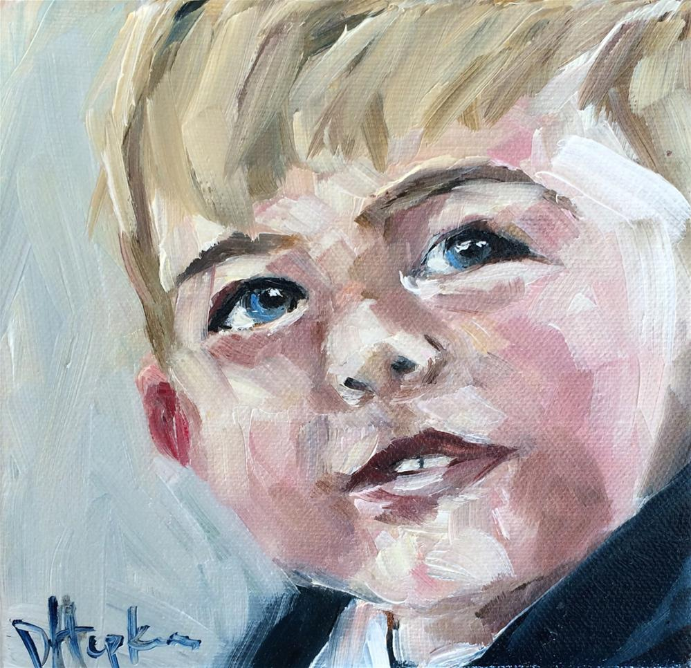 """Teddy"" original fine art by Denise Hopkins"